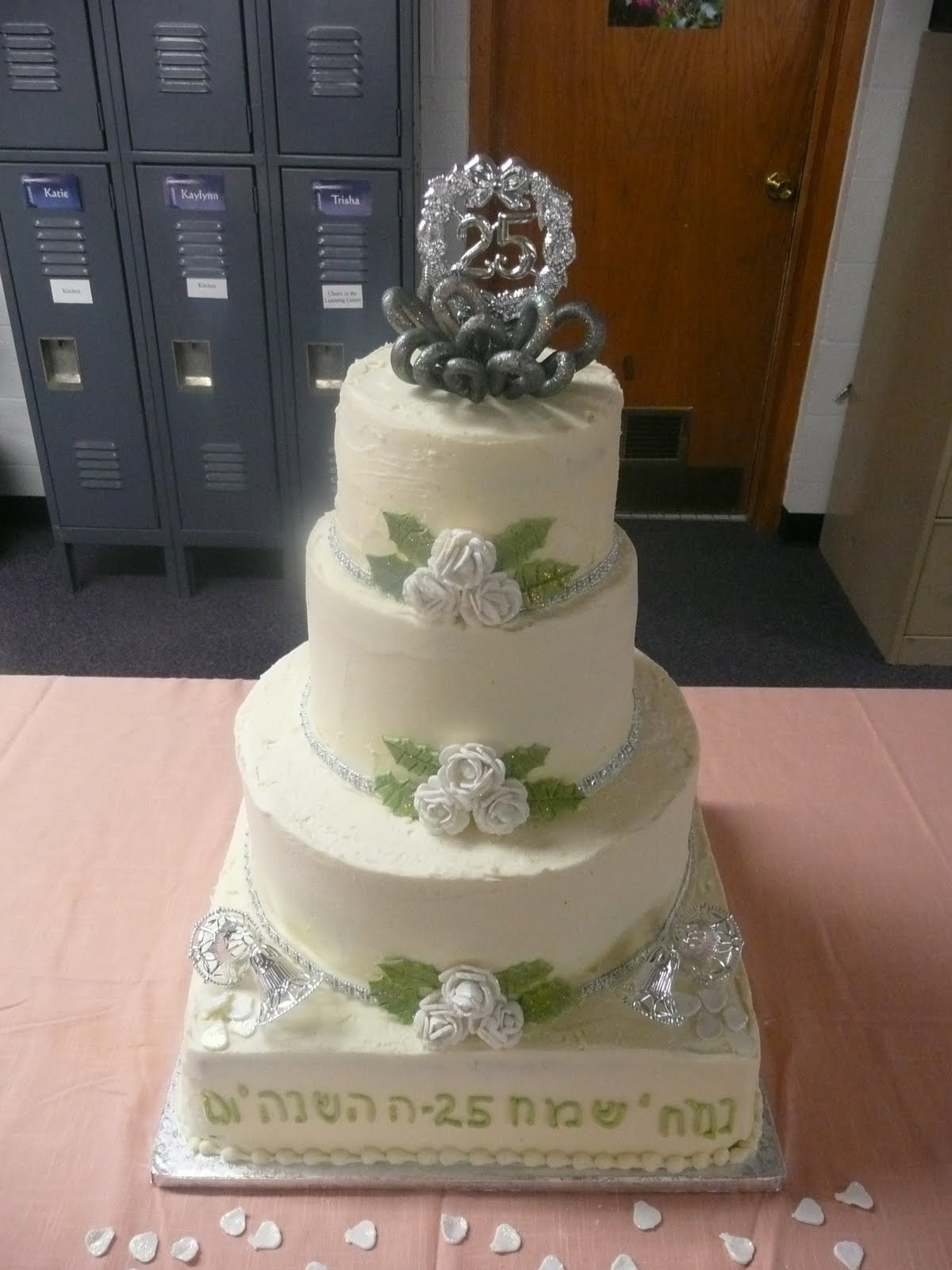 25th wedding anniversary cakes