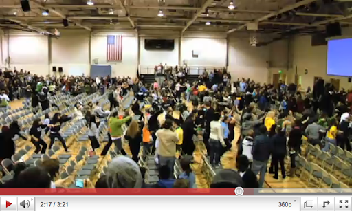 click to watch the SAU flash mob video