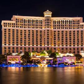 Belaigio Las Vegas by Dean Mayo - Buildings & Architecture Office Buildings & Hotels ( las vegas, reflection, bellagio, caesars palace, night photography, vegas strip, cosmopolitan, hotels )