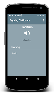 English to Tagalog Dictionary - screenshot