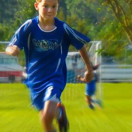 Soccer Kick by David Walters - Sports & Fitness Other Sports ( kicking, action, sony hx400v, goal, soccer )