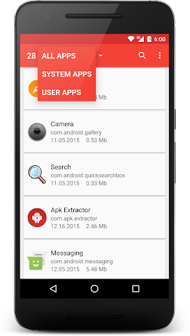 android APK Extractor Screenshot 1
