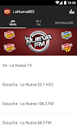 Screenshot of LaNueva883