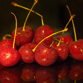 Blinking Cherries by Sam Song - Food & Drink Fruits & Vegetables ( fruits )