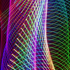 Columns of light by Jim Barton - Abstract Patterns ( laser light, colorful, green, laser light show, science, columns of light, red, light design, blue, neon, laser design, laser, light )
