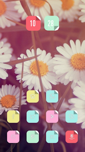 Beautiful white flowers theme - screenshot
