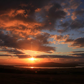 Sunset over Inch Island Co,Donegal  by Chris Mcgurgan - Novices Only Landscapes