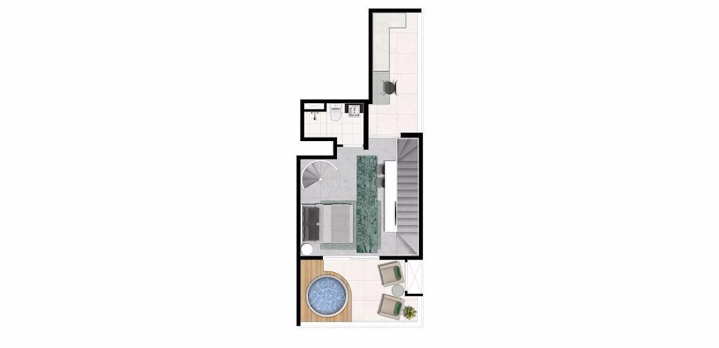 Planta Triplex Superior 113 m²