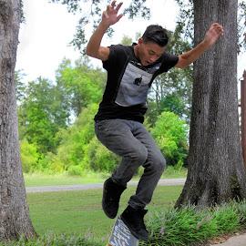 by Kristy Shamburg - Sports & Fitness Skateboarding ( skateboarding, sports, boarding, air, fun )