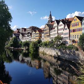 Tübingen by Christa Hebestreit - City,  Street & Park  Historic Districts ( university town, student city, medieval city, germany, historic center )