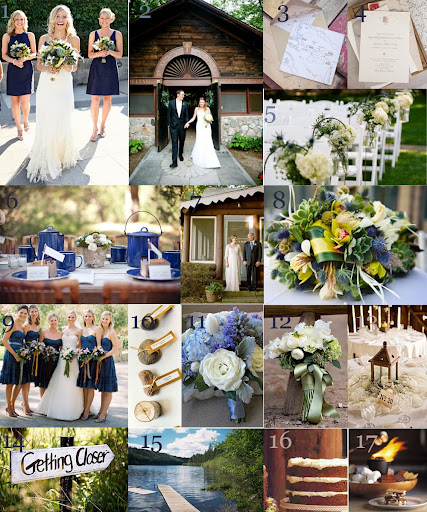 blue wedding reception autumn wedding centerpieces