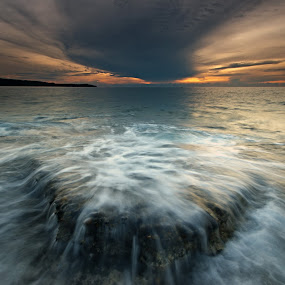 Splashdown by Ledon Jasper Samoranos - Landscapes Waterscapes