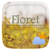 Floret GO Weather Widget Theme