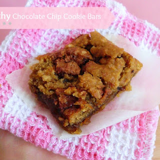 Healthy Chocolate Chip Cookie Bars