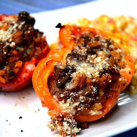 Ground Meat - Bison Stuffed Peppers