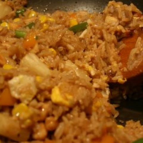 Indian Pineapple Fried Rice and Chicken