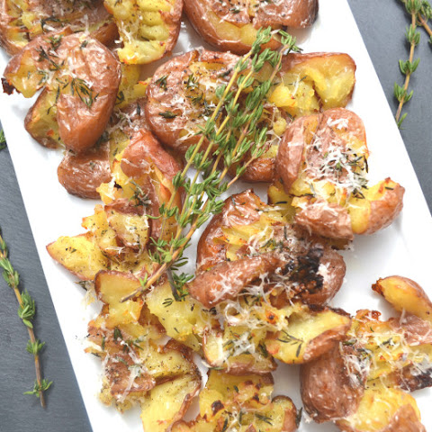 Parmesan Herb Smashed Potatoes