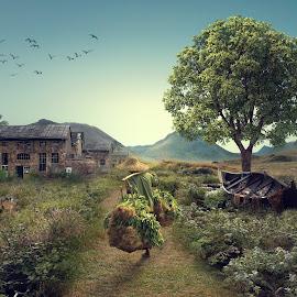 VILAGE by Edi Triono - Digital Art Places ( farmer, village, human interest, forest, places )