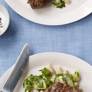 Lamb Chops with White Bean & Cucumber Salad