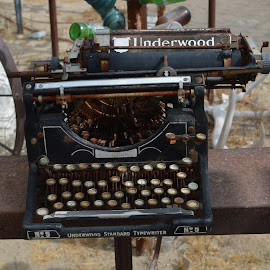 Type a letter by Heather Walton - Novices Only Objects & Still Life ( old, typewriter, weather, letters, decaying )