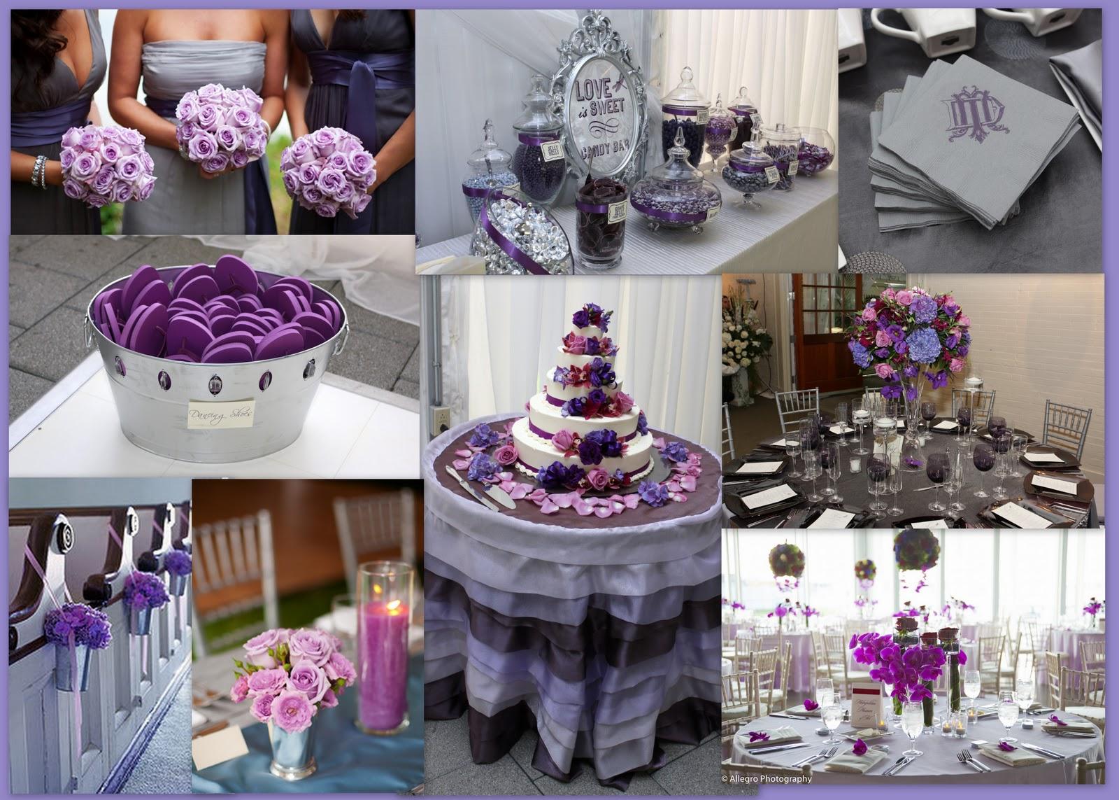 Snuggles Blog Purple And Silver Wedding Cake Purple Wedding Cake