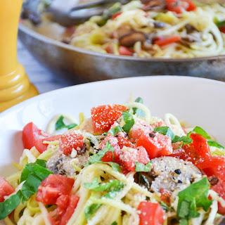 Tomato Mushroom Zucchini Pasta Recipes