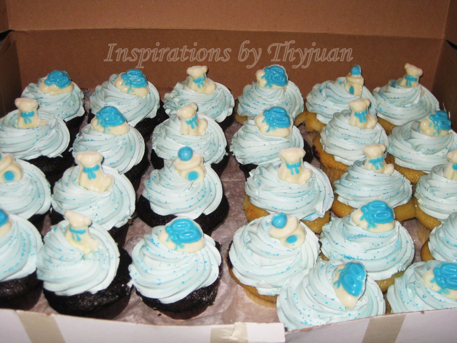 baby shower cupcakes, bridal