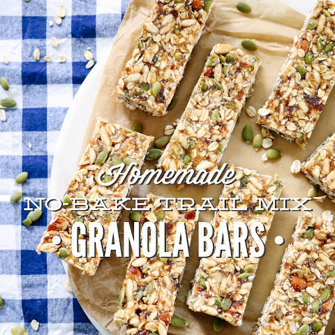 Homemade No-Bake Trail Mix Granola Bars