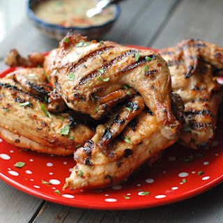 Grilled Peanut-Lime Cornish Hens