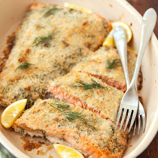 Panko-Crusted Salmon with Dill and Lemon