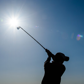 Into the sun by Jimmy Rash - Sports & Fitness Golf ( wild horse, wild horse golf club, gothenburg, 2015, golf )