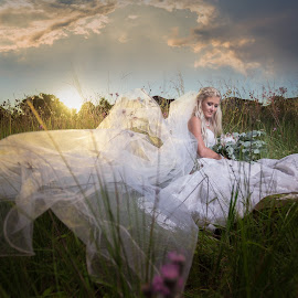 Sunset Bride by Lodewyk W Goosen (LWG Photo) - Wedding Bride ( wedding photography, wedding photographers, brides, wedding dress, bridal, sunset, dress, wedding, weddings, wedding day, brideal session, wedding photographer, bride )