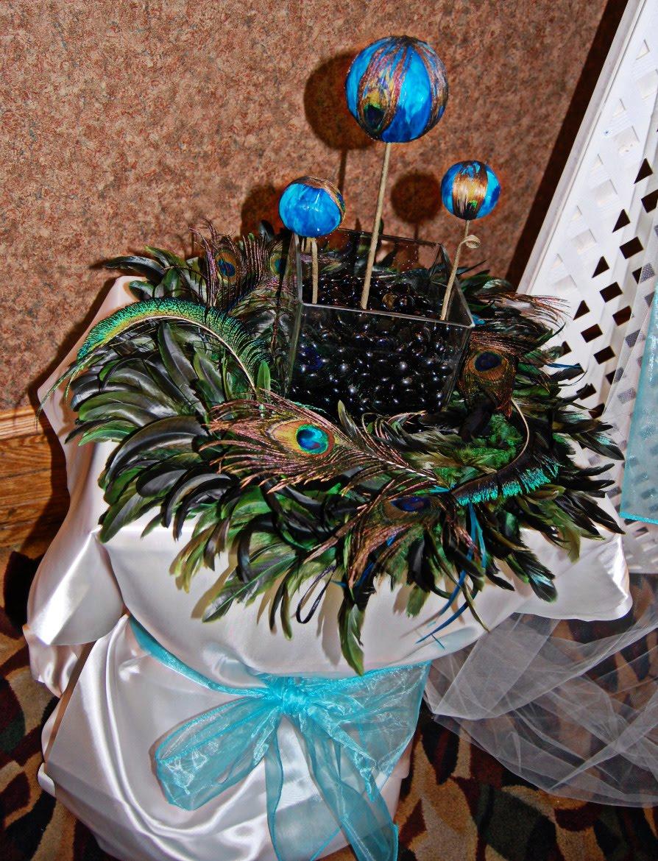 Yesenia 39 s blog peacock wedding centerpieces - Peacock arrangements weddings ...