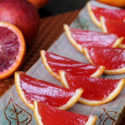BLOOD ORANGE MARGARITA JELLO SHOTS