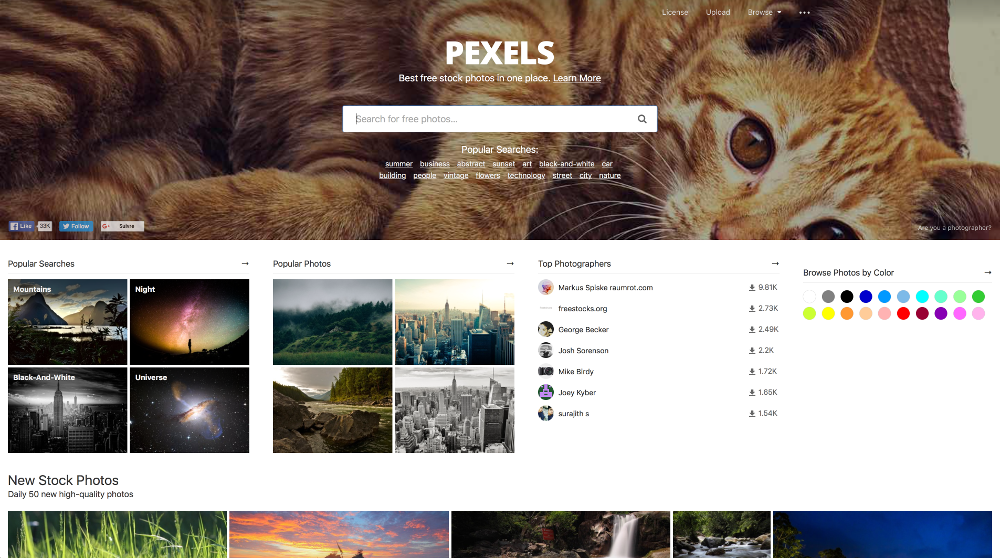 site web pexels