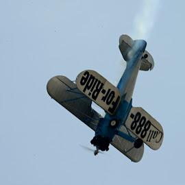 Biplane Rides by Bill Telkamp - Transportation Airplanes ( airplanes, biplane, airplane, airshow )