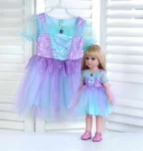 """Кукла серии """"Город Игр"""" 45 см с платьем, голубой-фиолетовый M"""