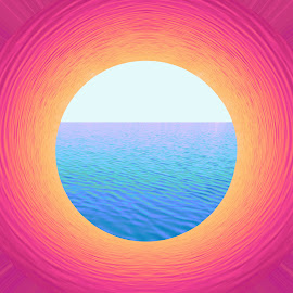 Harmony by Florentina  Arvanitaki - Illustration Abstract & Patterns ( digital, harmony, beautiful, pink, light, earth, sun, sea )