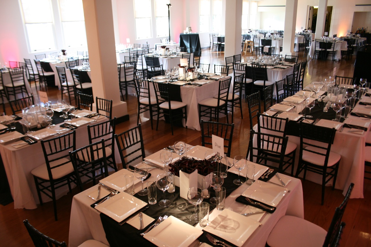 black and white wedding venues