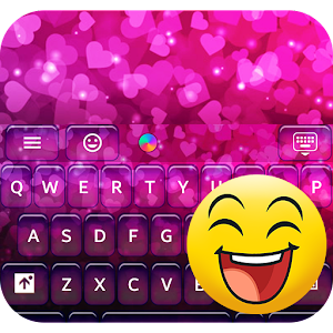 Neon Hearts for Emoji Keyboard
