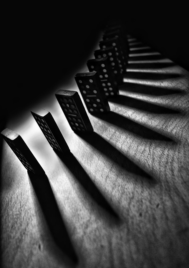 domino by Andi Topiczer - Abstract Fine Art ( abstract, topiczer andi, black and white, conceptual, vertical lines, pwc )