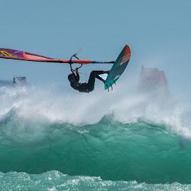 Swept Away by Deon Warrington - Sports & Fitness Surfing ( wind, wavew, surfing, sea, ocean )