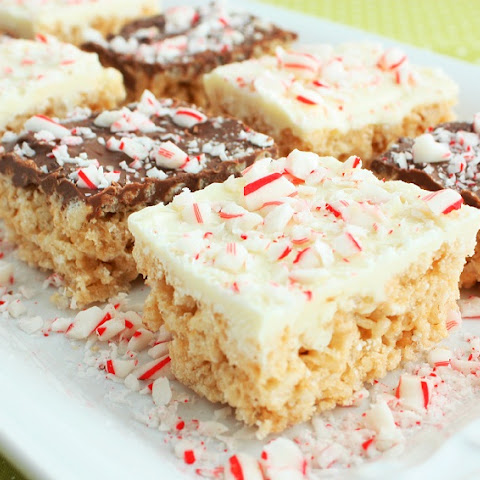 Peppermint Rice Krispie Treats