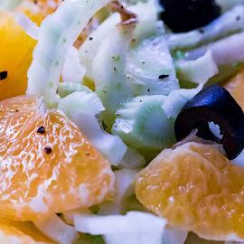 Season's Fresh by Meeta Thakur - Food & Drink Fruits & Vegetables ( orange, salad, olives, fennel, fresh )