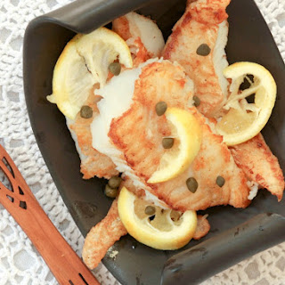 Crispy Cod with Lemon Butter White Wine Sauce