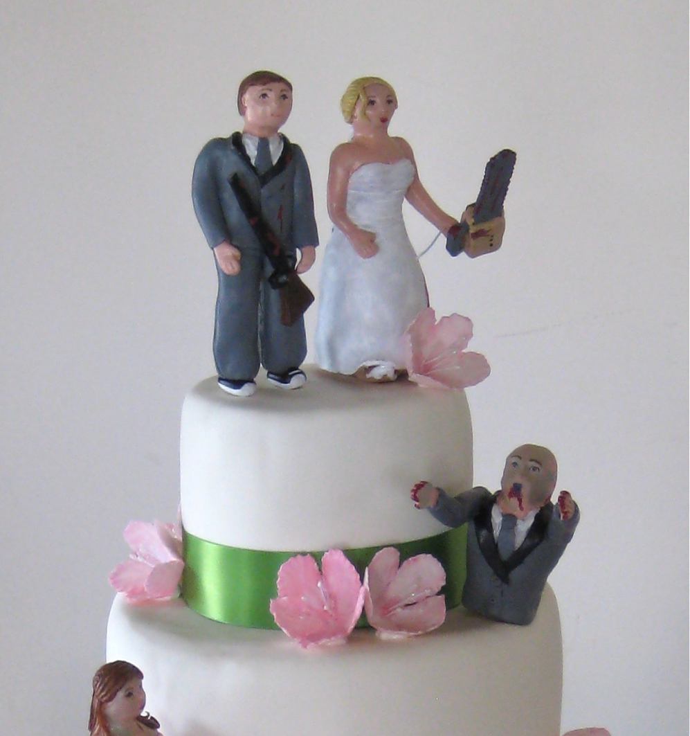 amazing wedding cakes, antique