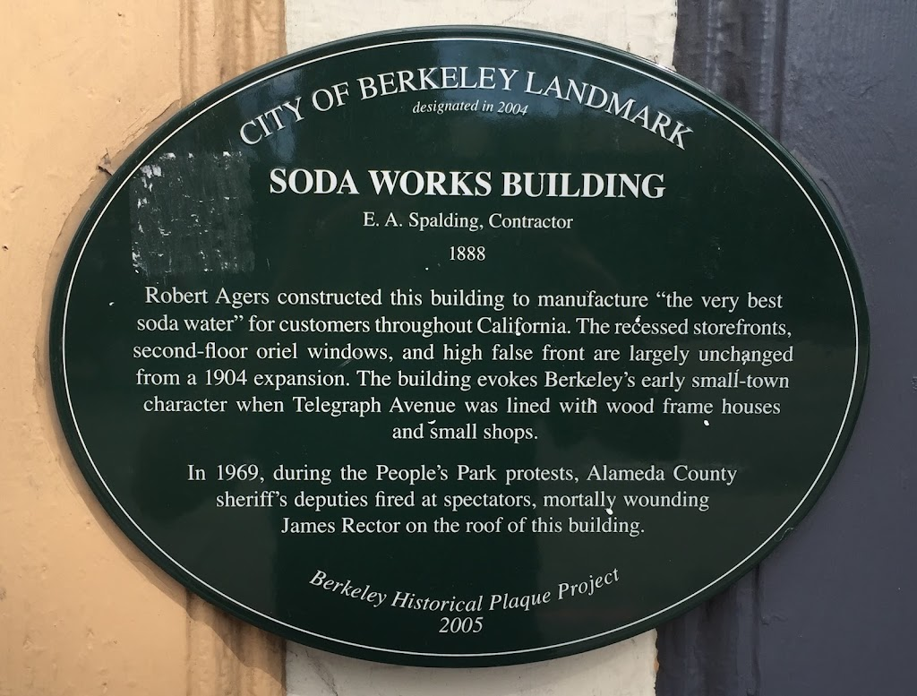 "SODA WORKS BUILDING E. A. Spalding, Contractor 1888 Robert Agers constructed this building to manufacture ""the very bestsoda water"" for customers throughout California. The recessed ..."