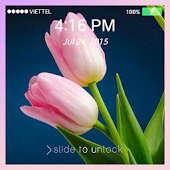 Lock screen Wallpaper: Tulip