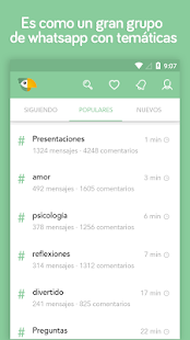 Topic - Comunidad y blogging Screenshot