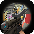 3d toon army sniper shooting